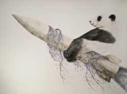 PandaOnARocket