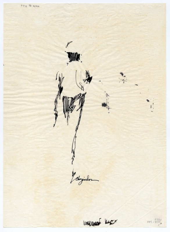 Untitled (pen + ink on paper) n.d. by Joseph Christopher Chizanskos